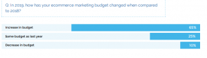 eCommerce marketing budget