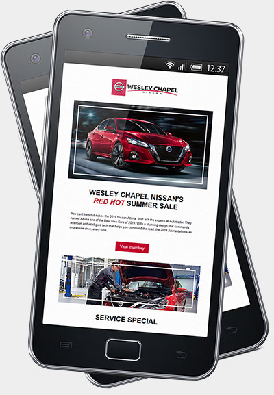 automotive email example